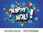 creative colorful happy holi... | Shutterstock .eps vector #401960686
