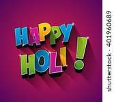 creative colorful happy holi... | Shutterstock .eps vector #401960689
