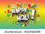 creative colorful happy holi...   Shutterstock .eps vector #401960698