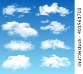 set of realistic vector clouds | Shutterstock .eps vector #401961703