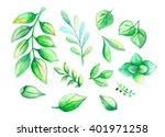 beautiful green and blue... | Shutterstock . vector #401971258