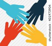 teamwork concept design  | Shutterstock .eps vector #401973904