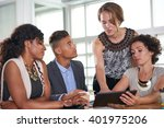 team of successful business... | Shutterstock . vector #401975206