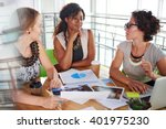 team of successful business... | Shutterstock . vector #401975230
