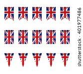united kindom flag bunting | Shutterstock .eps vector #401977486