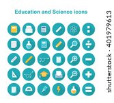 education and science icons.... | Shutterstock .eps vector #401979613