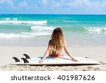 outdoor beach vacation portrait ... | Shutterstock . vector #401987626
