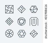 set of the linear design... | Shutterstock .eps vector #401988616