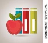 school supplies design  | Shutterstock .eps vector #401993296