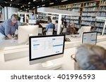 library academic computer... | Shutterstock . vector #401996593