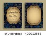vintage invitation template.... | Shutterstock .eps vector #402013558