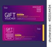 gift voucher premier color | Shutterstock .eps vector #402014434