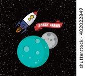 rocket ship space travel | Shutterstock .eps vector #402022849