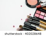 makeup products on white... | Shutterstock . vector #402028648