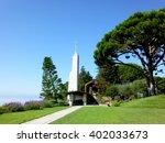 wayfarers chapel in los angeles | Shutterstock . vector #402033673