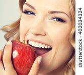 portrait of happy smiling young ... | Shutterstock . vector #402034324