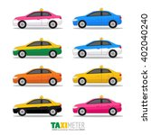 colorful thailand taxi meter | Shutterstock .eps vector #402040240