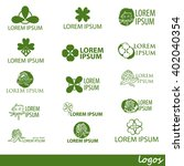 clover abstract icon logo... | Shutterstock .eps vector #402040354
