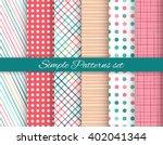 geometric seamless patterns set ... | Shutterstock .eps vector #402041344