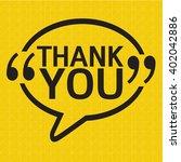 thank you lettering... | Shutterstock .eps vector #402042886