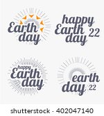 earth day lettering. custom... | Shutterstock .eps vector #402047140