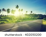 empty road in jungle of... | Shutterstock . vector #402050200