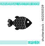 fish icon vector. | Shutterstock .eps vector #402050539