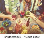 diverse ethnic friendship party ... | Shutterstock . vector #402051550