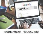 nutrition healthy life food... | Shutterstock . vector #402052480