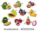 exotic asian passion fruit and... | Shutterstock .eps vector #402052546