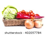 vegetable organic fresh... | Shutterstock . vector #402057784