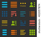 hamburger menu icons set. bar... | Shutterstock . vector #402057874