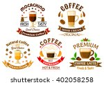 natural espresso coffee ... | Shutterstock .eps vector #402058258