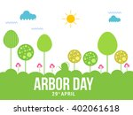 vector illustration of arbor... | Shutterstock .eps vector #402061618