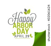 vector illustration of arbor... | Shutterstock .eps vector #402061624