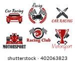 motorsport and racing sport... | Shutterstock .eps vector #402063823