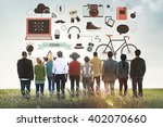 youth social media technology... | Shutterstock . vector #402070660
