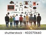youth social media technology... | Shutterstock . vector #402070660