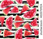 watercolor seamless pattern...   Shutterstock . vector #402070924