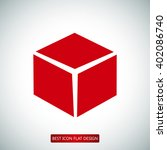 cube icon   Shutterstock .eps vector #402086740