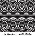 optical art opart striped wavy...   Shutterstock . vector #402092824