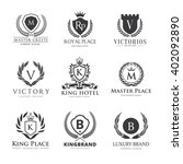 crests luxury logo set  brand... | Shutterstock .eps vector #402092890