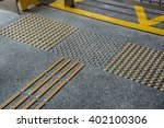 metal tactile paving for blind... | Shutterstock . vector #402100306