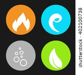 vector four natural elements  ... | Shutterstock .eps vector #402100738