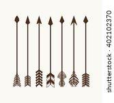 camping symbols. big set of... | Shutterstock .eps vector #402102370