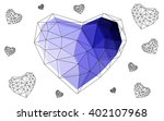 purple heart isolated on white... | Shutterstock .eps vector #402107968
