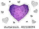 purple heart isolated on white... | Shutterstock .eps vector #402108094