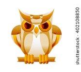 Owl Illustration. Facet Style....