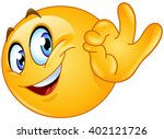emoticon showing ok sign | Shutterstock .eps vector #402121726
