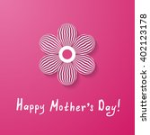 pink mother's day greeting card ... | Shutterstock .eps vector #402123178